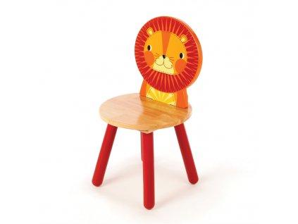 Tidlo Dřevěná židle Animal lev  + Dárek zdarma