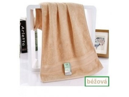 Bambusový ručník - 34 x 75 cm - 1ks (Hnědý)