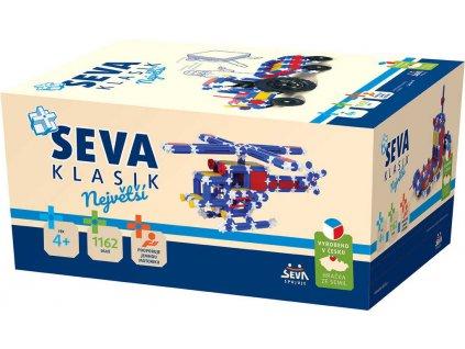 SEVA KLASIK Největší plastová XXL STAVEBNICE 1162 dílků v krabici  + Dárek zdarma