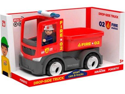 EFKO IGRÁČEK MultiGO Fire valníček set auto hasičské s figurkou