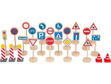 Small Foot Dopravní značky sada 25 dílů
