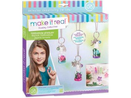 Náhrdelník s lahvičkou na vzpomínky dětský kreativní set s korálky a doplňky