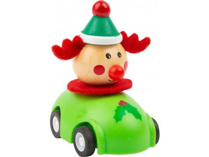 Small Foot Vánoční autíčko 1 ks zelená Small Foot Vánoční autíčko 1 ks zelená