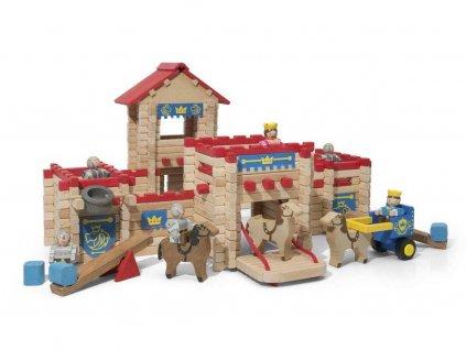 Jeujura Dřevěná stavebnice 300 dílů hrad  + Nanopodložka, loupač, nebo desinfekce