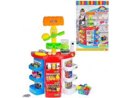 Obchod potraviny herní set s doplňky set 38ks na baterie Světlo Zvuk  + Dárek zdarma