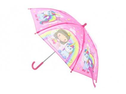 Deštník Princezna s jednorožcem manuální