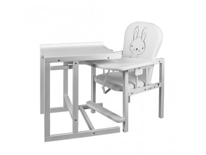 Borovicová židlička New Baby Králíček - bílá  + Dárek zdarma