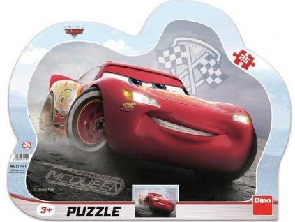 DINO Puzzle obrysové deskové 25 dílků Blesk McQueen Auta 3 (Cars) 30x23cm
