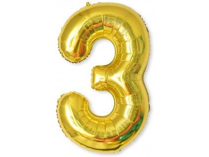 Nafukovací balónky čísla maxi zlaté - 3
