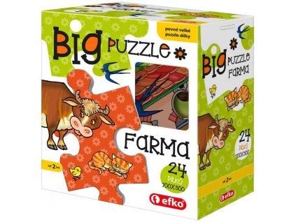 EFKO Baby Puzzle BIG Farma velké dílky skládačka set 24 dílků 68x47cm v krabici