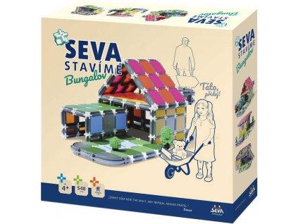 SEVA Stavíme - Bungalov plastová STAVEBNICE 458 dílků