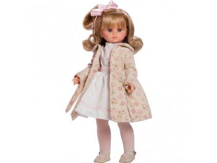 Luxusní dětská panenka-holčička Berbesa Flora 42cm - béžová  + Dárek zdarma