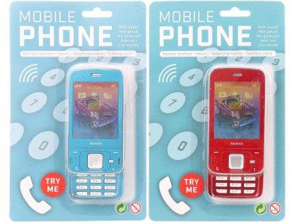 Telefon dětský mobilní tlačítkový výsuvný na baterie Zvuk plast