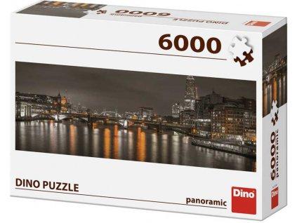 DINO Puzzle panoramatické 6000 dílků Londýn v noci 235x84cm skládačka  + Dárek zdarma
