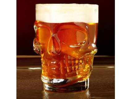 Pivní sklenice lebka
