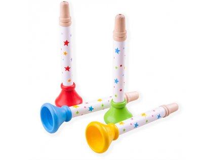 Bigjigs Toys Trumpetka hvězdičky 1 ks červená Bigjigs Toys Trumpetka hvězdičky 1 ks červená