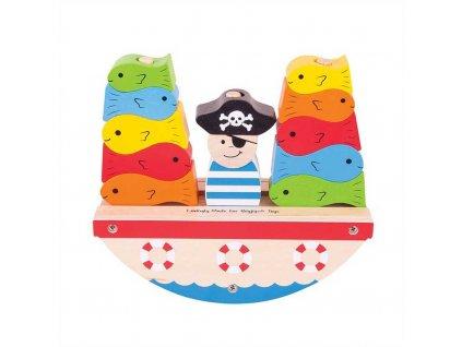 Bigjigs Baby Nasazovací kostky pirát