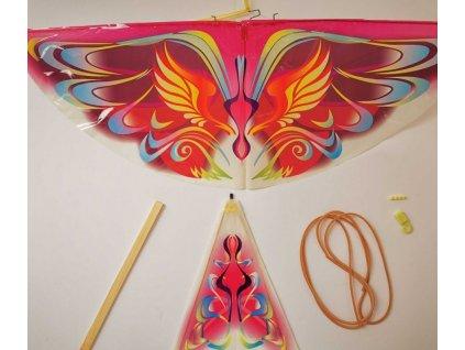 Sestav si letadýlko ve tvaru ptáčka - Fialový motýl