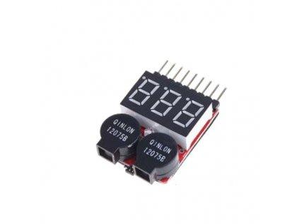 Tester Li-Po baterií s výstrahou 8čl - alarm