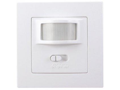 Solight PIR senzor interiérový, do krabičky od vypínačů, funkce zapnutí-vypnutí senzoru, bílý