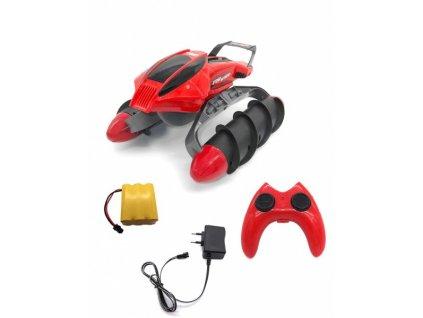 Obojživelník Amphibious Stunt Car - červený  + Nanopodložka, loupač, nebo desinfekce