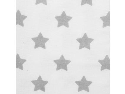 Nepromokavá flanelová podložka New Baby hvězdičky - bílá