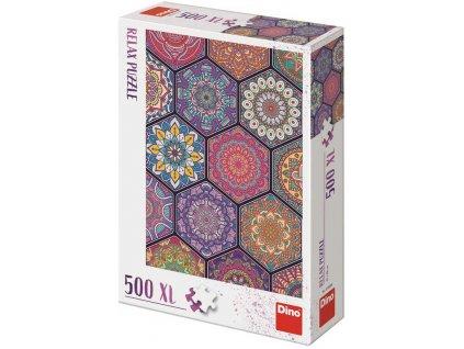 DINO Puzzle 500 dílků XL Mandaly 47x66cm skládačka