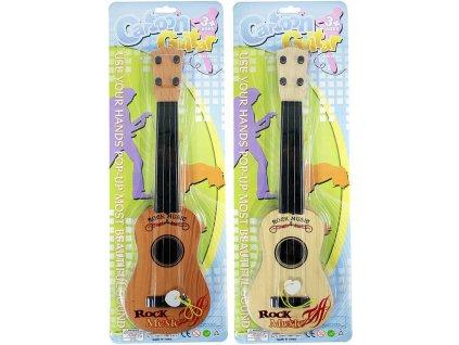 Kytara dětská plastová 42cm 4 struny s trsátkem na kartě *HUDEBNÍ NÁSTROJE*