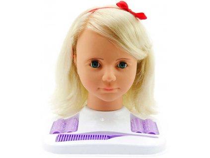 Hamiro hlava česací velká blond set s kadeřnickými potřebami mrkací