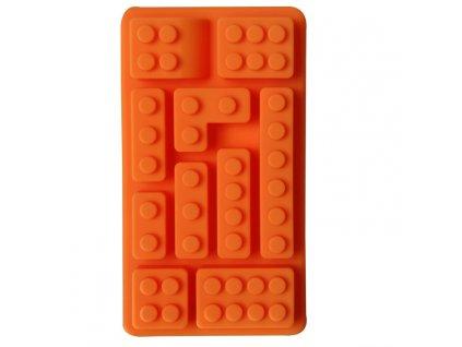 Forma na led - kostky lega (Oranžová)
