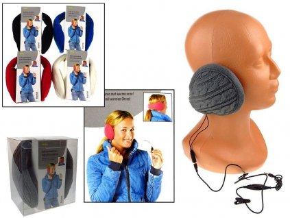 Klapky na uši se sluchátky