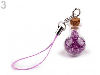 Přívěsek lahvička s krystaly