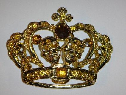 Dámská spona na pásek koruna s lebkou