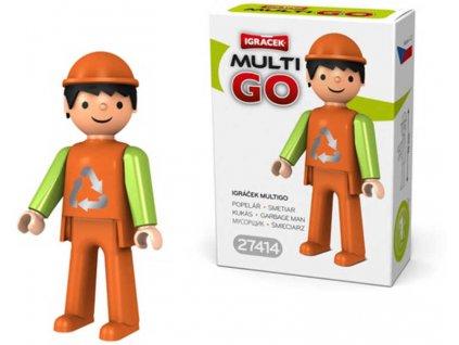 EFKO IGRÁČEK MultiGO Popelář Figurka v krabičce