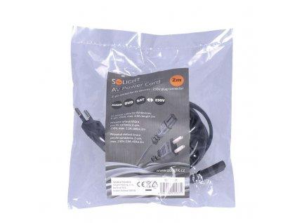 Solight napájecí kabel 2-pin, 230V, 2,5A, 2m
