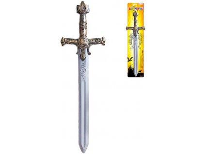 Meč zdobený rytířský 56cm plast na kartě