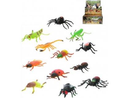 Hmyz strečový 8-13cm zvířátko gumové 12 druhů