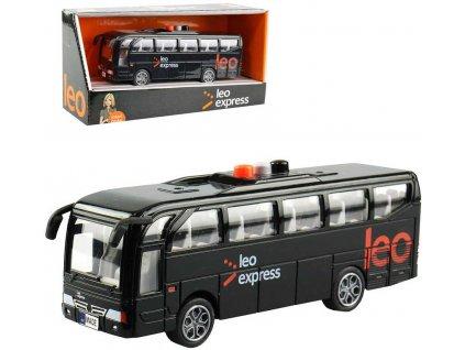 Autobus Leo Express 16cm hlášení řidiče a stewardky CZ na baterie Světlo Zvuk
