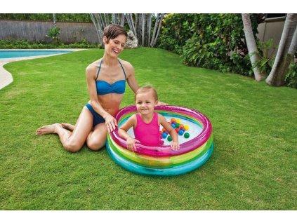 INTEX Baby bazén kulatý 86x25cm set se soft míčky 6,5cm 50ks 48674