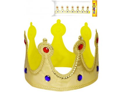 KARNEVAL Koruna královská na suchý zip látková KARNEVALOVÝ DOPLNĚK