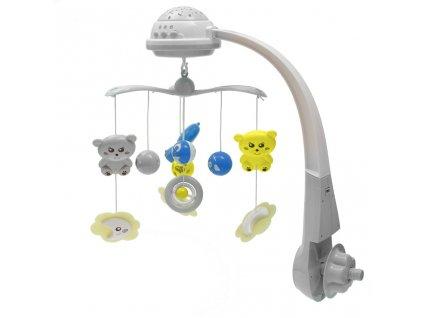 Kolotoč nad postýlku se světelným projektorem Baby Mix  + Nanopodložka, loupač, nebo desinfekce