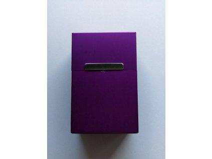 Plechová krabička na cigarety - Fialová