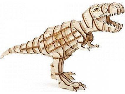 Dřevěné 3D puzzle - T Rex