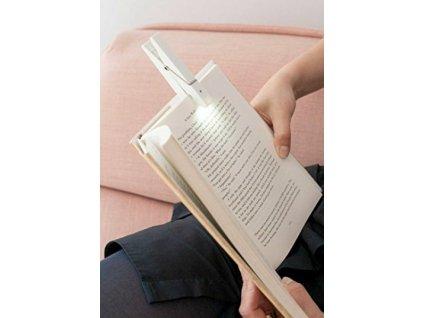 Lampička na knihu - kolíček - bílá