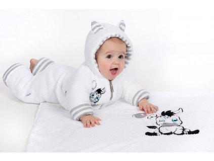 Luxusní dětská zimní deka New Baby Zebra 110x90 cm - bílá