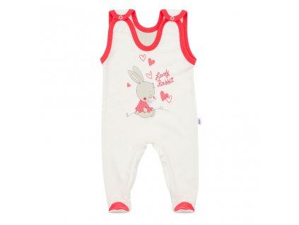 Dětské dupačky New Baby Lovely Rabbit - růžová/74 (6-9m)