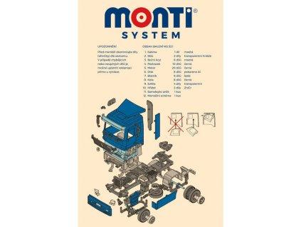 SEVA Monti System 53 Auto Mercedes Actros L 1:48 Stavebnice MS46 0109-53