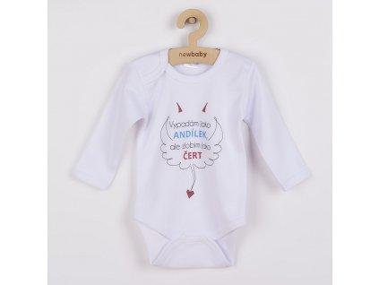 Body s potiskem New Baby Vypadám jako ANDÍLEK, ale zlobím jako ČERT