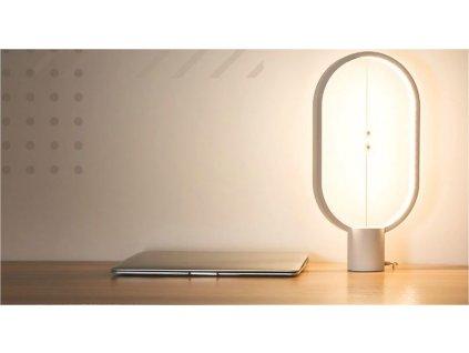 Designová dotyková lampička - světlé dřevo