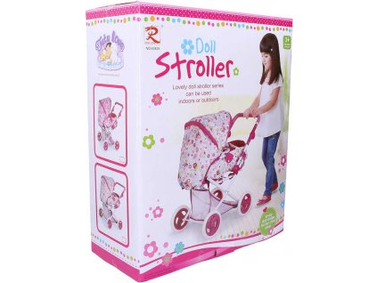 Kočárek Tutu Love 45x59x38cm růžovo-bílý hluboký pro panenku miminko  + Dárek zdarma
